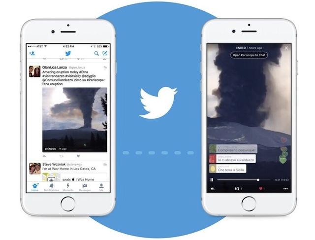 Twitter integra el streaming en vivo de Periscope en su app de iOS